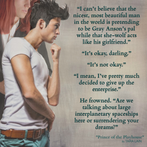 Teaser #5 - Prince of the Playhouse by Tara Lain